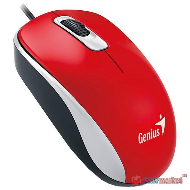 Мышь Genius DX-110, USB, Red