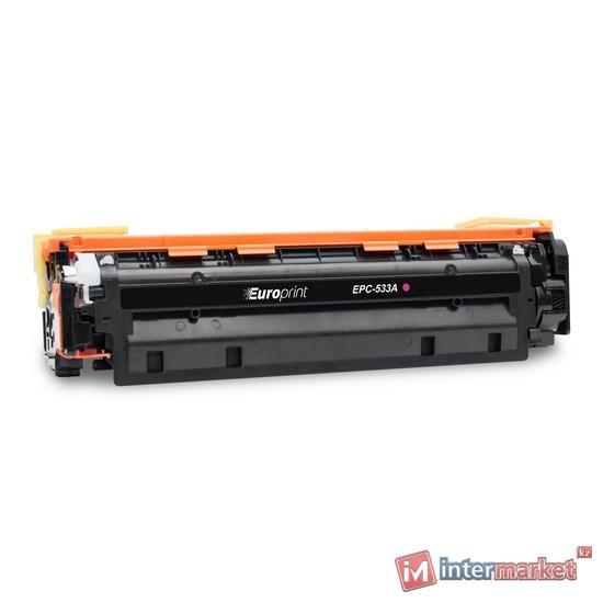 Картридж, Europrint, EPC-533A (CC533A), Пурпурный, Для принтеров HP Color LaserJet CM2320/CP2025, 2800 страниц.