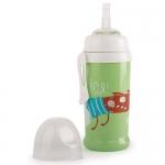 Поильник Happy Baby для кормления с трубочкой и прищепкой 360мл 14015 Grass